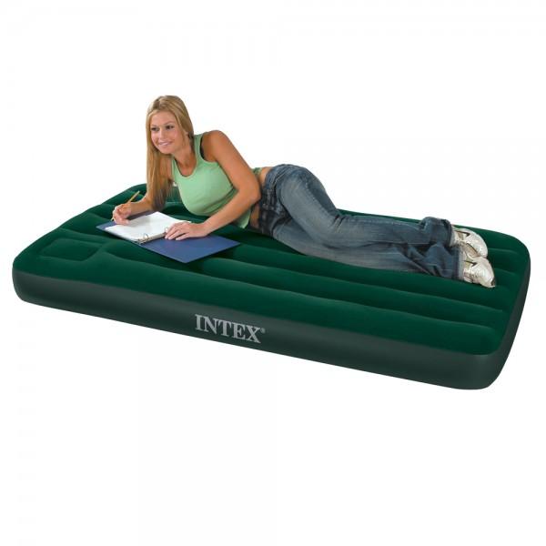 INTEX Camping Single Luftbett Gästebett 191x99x22cm Bett + integrierte Fusspumpe
