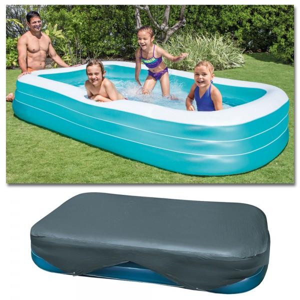 INTEX Swim Center Family 305x183cm mit Abdeckplane Planschbecken Swimming Pool
