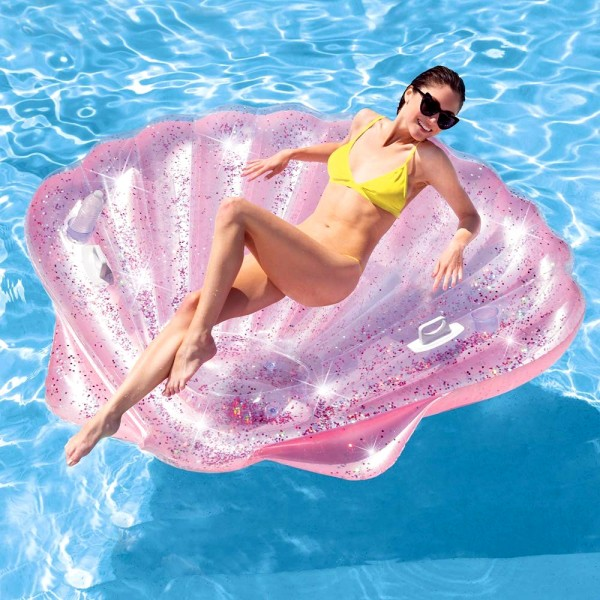 INTEX Pink Seashell Island 178x165cm Badeinsel Luftmatratze Schwimmliege