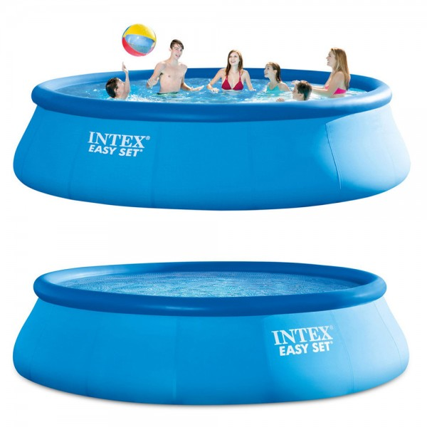 INTEX Easy Set Pool 457x107cm Quick Up Swimming Ersatzpool Ersatzpoolfolie