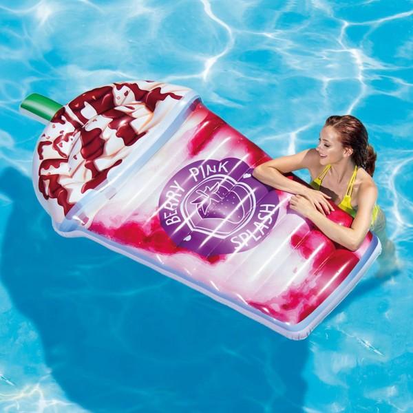Kinderbadespaß XXL Doppel Lounge Schwimmliege Luftmatratze mit Getränkehalter von INTEX