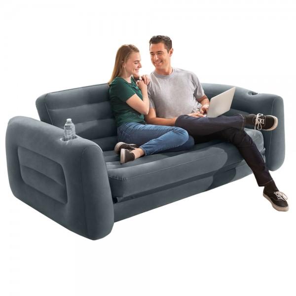 INTEX Sofa Lounge Couch ausziehbar Camping Luftbett Gästebett Bett Schlafsofa