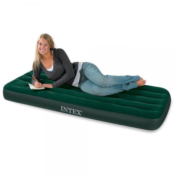 INTEX Camping Single Luftbett Gästebett 191x76x22cm Bett + integrierte Fusspumpe