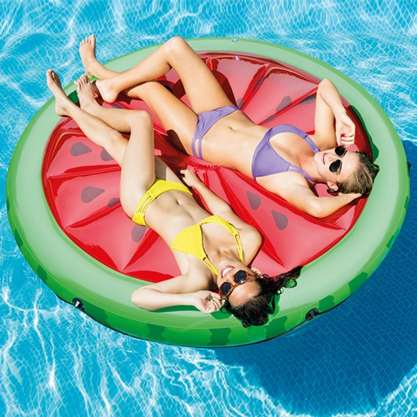 INTEX Watermelon Island Ø 183cm Badeinsel Luftmatratze Wasserliege Schwimmliege