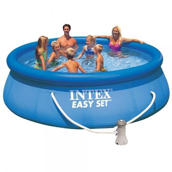 INTEX Swimming Pool mit Pumpe 396x84cm Schwimmbecken Planschbecken