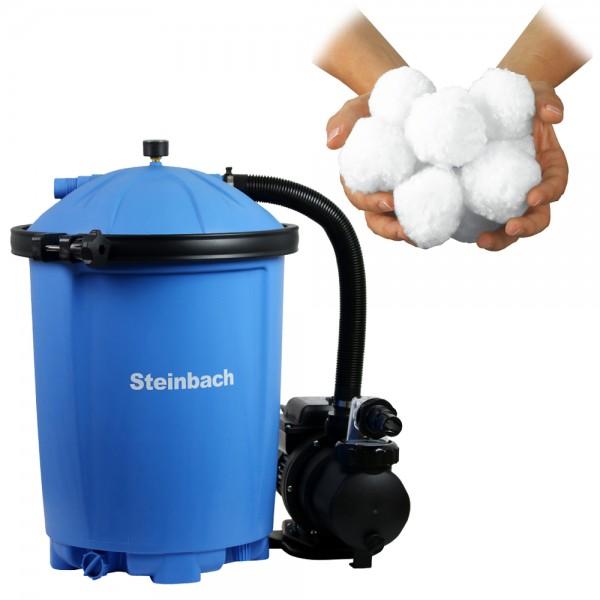 Steinbach Sandfilteranlage Active Balls 75 Sandfilter Filter Pool 8,5m³ Intex