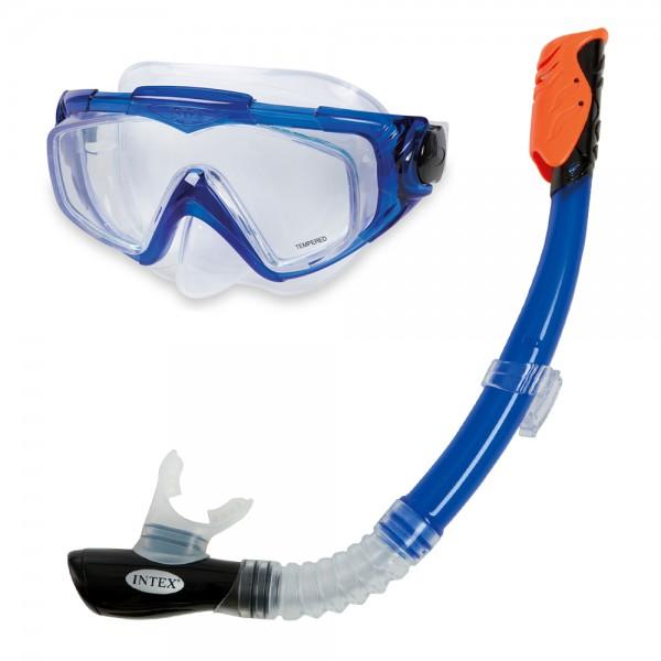 INTEX Tauch Set Silicon Aqua Pro Tauchmaske Taucherbrille + Schnorchel