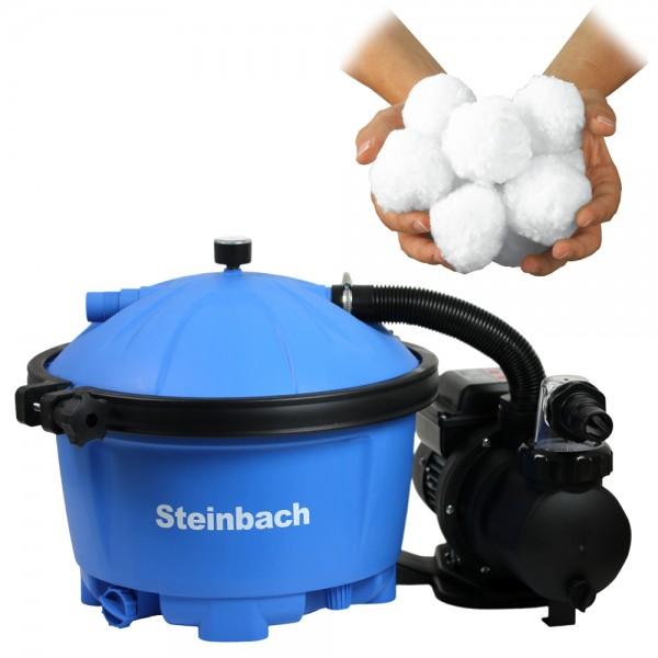 Steinbach Sandfilteranlage Active Balls 50 Sandfilter Filter Pool 7,5m³ Intex