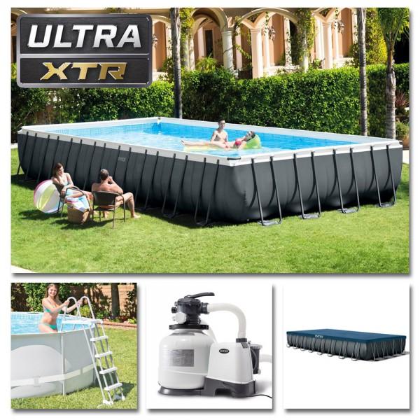 INTEX Komplettset Ultra XTR Frame Pool 975x488x132cm + Sandfilter Swimmingpool