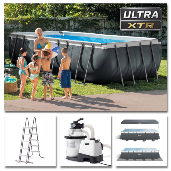 INTEX Komplettset Ultra XTR Frame Pool 549x274x132cm + Sandfilter Swimmingpool