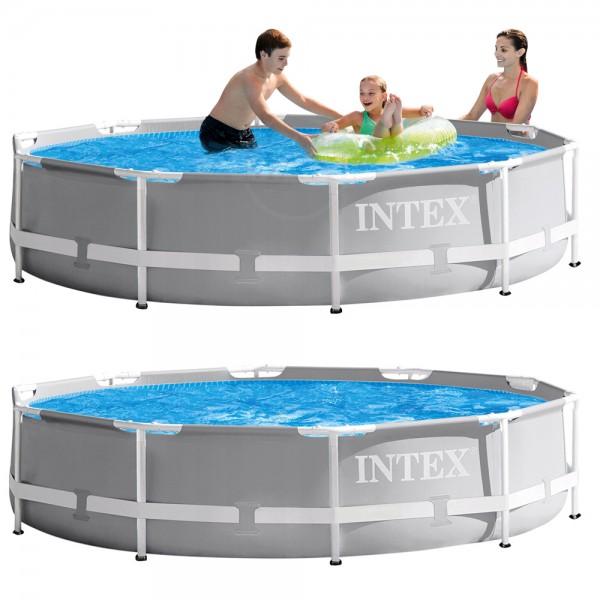 INTEX Prism Frame Swimming Pool 366x76cm Schwimmbecken Stahlrohrbecken