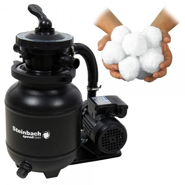 Speed Clean Classic 250N Sandfilteranlage + Filterballs Pool 4,5m³ Intex