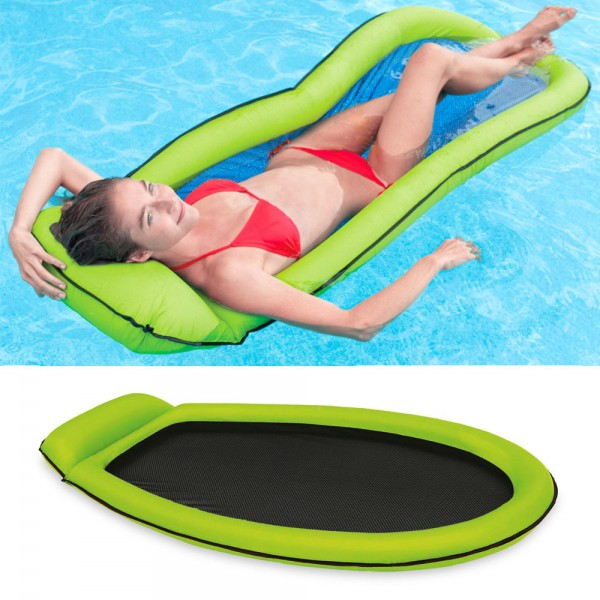 INTEX Mesh Lounge Grün 178x94 Wasserliege Luftmatratze Ring mit Netzeinsatz