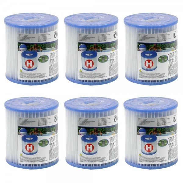 6 x INTEX Pool Pumpe Filter Filterkartusche Ersatzfilter Typ H 29007