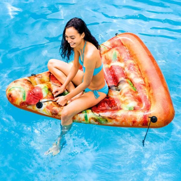 INTEX Pizza 175x145cm Luftmatratze Badeinsel Wasserliege Schwimmliege Pool
