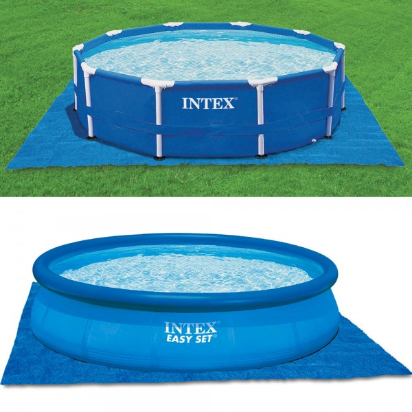 INTEX Bodenschutzplane Bodenplane für Easy Set Frame Swimming Pools 472 x 472cm
