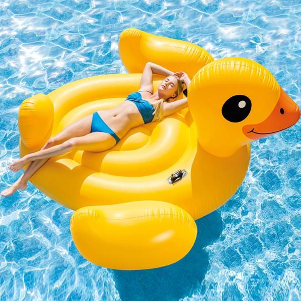INTEX Mega Schwimmtier Ente Duck XXL Schwimmliege Badeinsel Pool Wasserliege