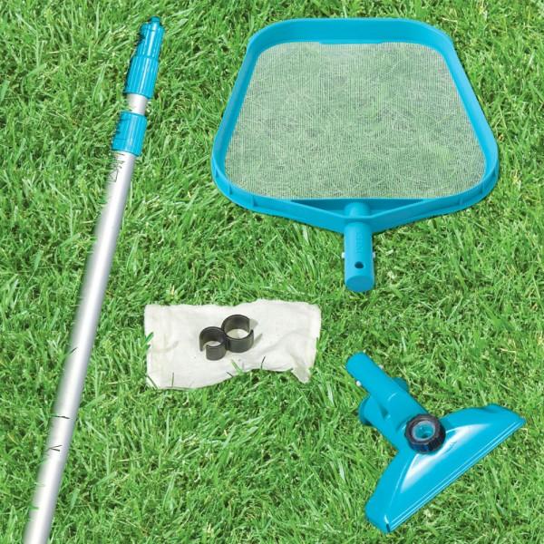 INTEX Easy Set Pool Reinigungset Reiniger Bodensauger Kescher Teleskopstange