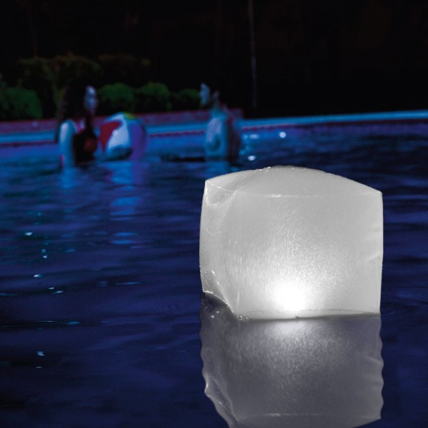 INTEX LED Schwimmwürfel Licht Würfel für Garten und Pool Poolbeleuchtung