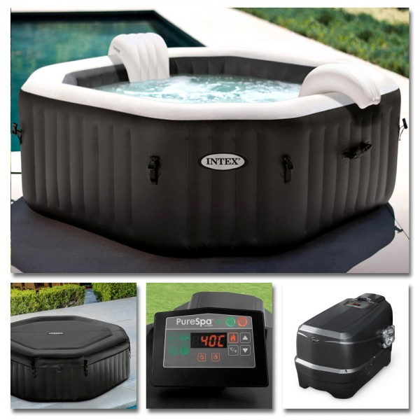 INTEX Whirlpool Pure SPA Jet + Bubble Kalkschutz + Salzwasser Ø218x71cm