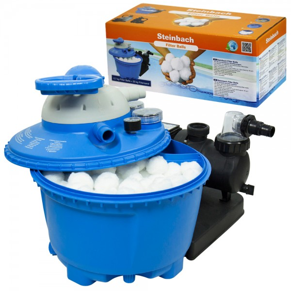 Steinbach Filter Balls 700g für Sandfilteranlage entspricht 25kg Filtersand