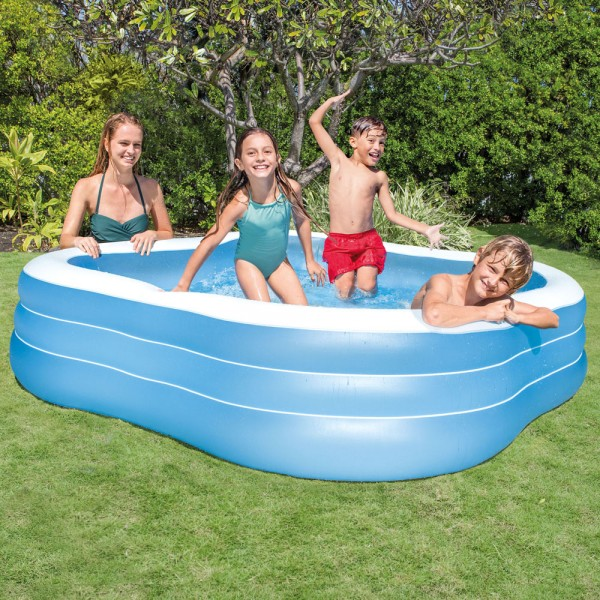 INTEX Swim Center 229x229x56cm Swimming Pool Planschbecken Kinderpool Blau