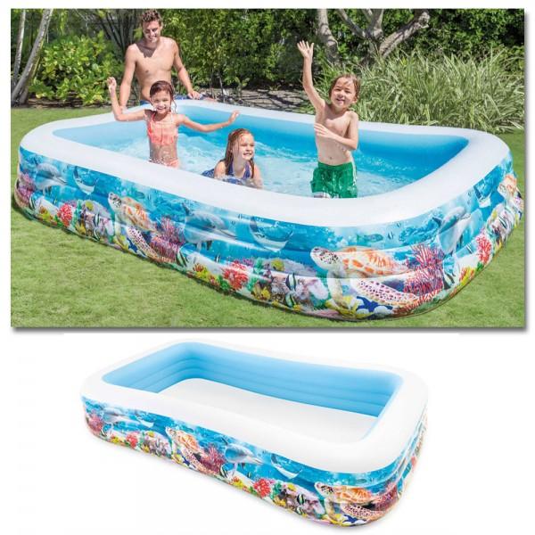 INTEX Sealife Swim Center 305x183cm Family Swimming Pool Planschbecken