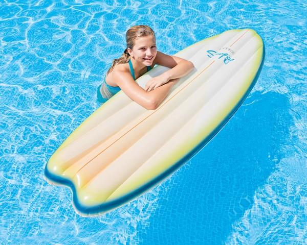 INTEX Surfboard aufblasbar Surfbrett Wellenreiter Luftmatratze 178x69cm Weiss