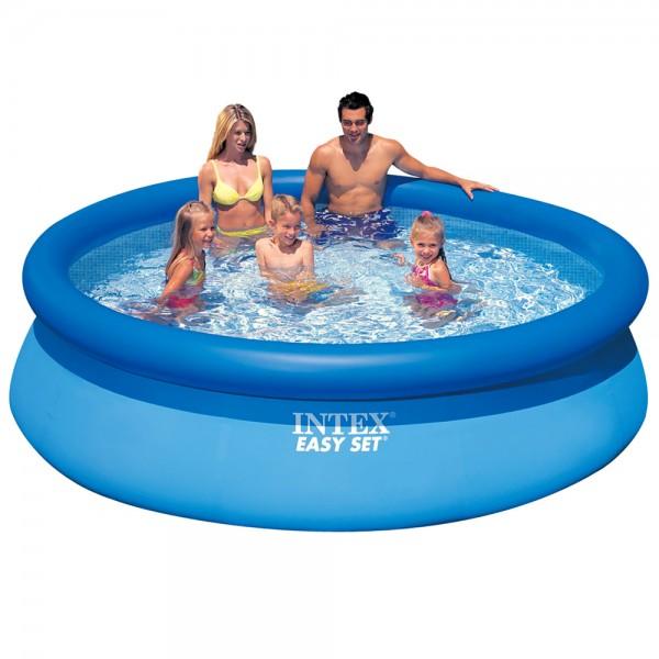 INTEX Easy Set Pool Quick Up Swimming Pool 396x84cm Schwimmbecken Planschbecken