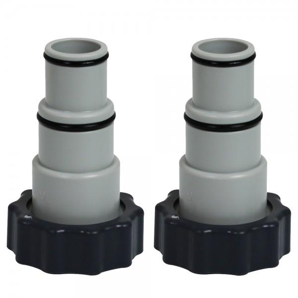 2 x INTEX Adapter A Pumpe Schlauch Swimming Pool 32mm 38mm x 2 Zoll Innengewinde