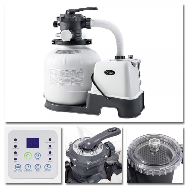 INTEX Sandfilter 6m³ Sandfilteranlage Salzwassersystem Chlorgenerator Filter
