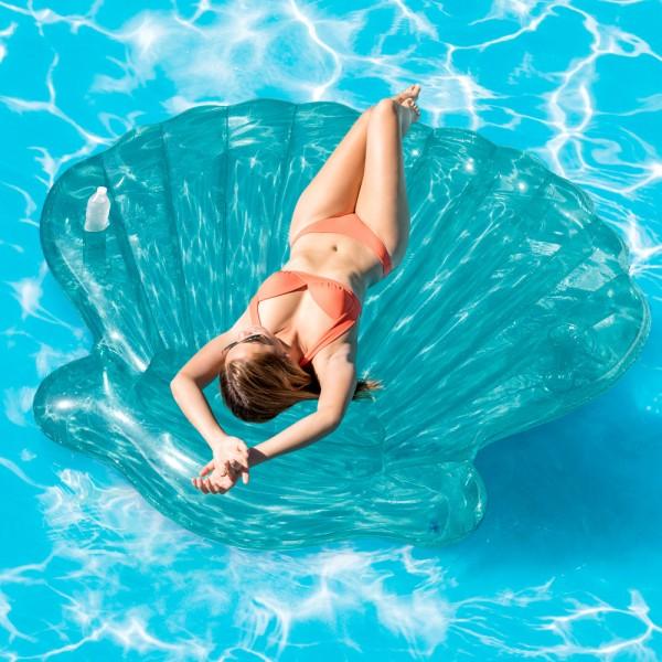 INTEX Seashell Island 191x191cm Badeinsel Luftmatratze Wasserliege Schwimmliege