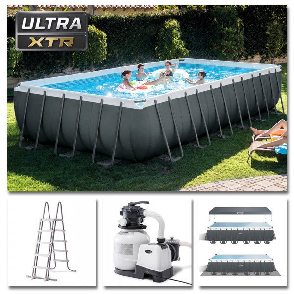 INTEX Komplettset Ultra XTR Frame Pool 732x366x132cm + Sandfilter Swimmingpool