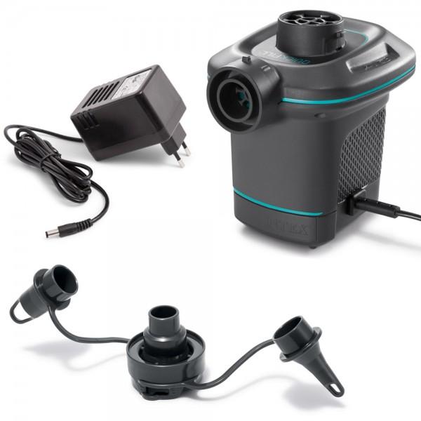 INTEX Quick Fill Elektrische Luftpumpe für 230V mit 3 verschiedenen Adapter