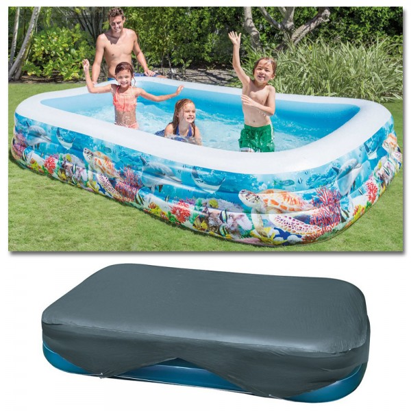 INTEX Sealife Swim Center Family 305x183cm mit Abdeckplane Swimming Pool