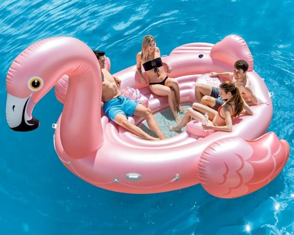 INTEX Party Insel Schwimmtier Flamingo XXL Badeinsel Schwimmliege