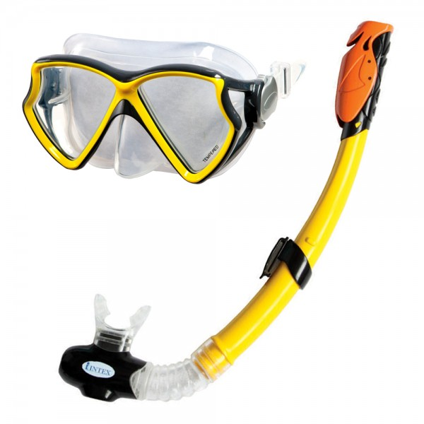 INTEX Tauch Set Silicon Aviator Pro Tauchmaske Taucherbrille + Schnorchel