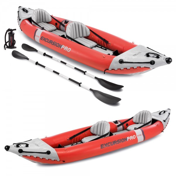 INTEX Excursion Pro Kajak Set Schlauchboot + Paddel + Pumpe für 2 Personen