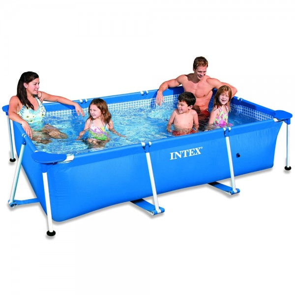 INTEX Family Swimming Pool Frame 220x150x60cm Schwimmbecken Planschbecken