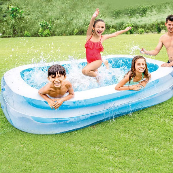 INTEX Swim Center 262x175cm Family Swimming Pool Planschbecken Kinderpool